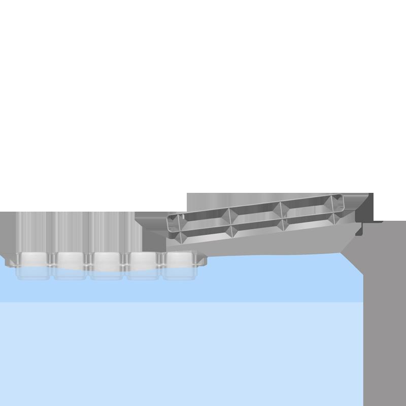 Floating pontoon gangway