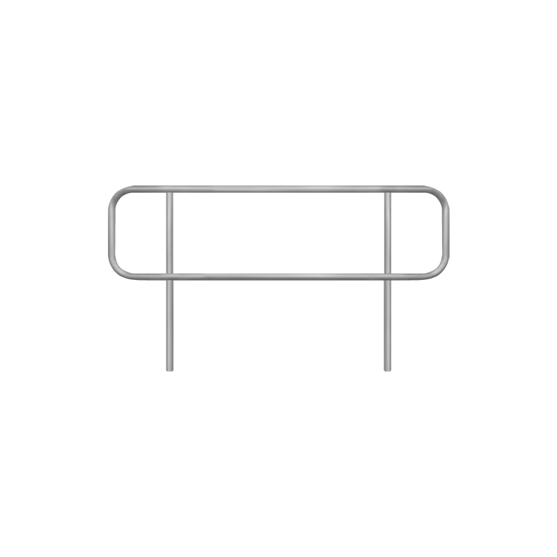 Handrail for floating pontoon gangway - 2m