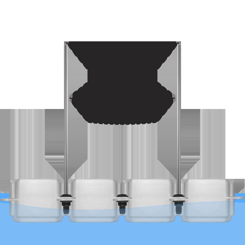 floating pontoon handrail