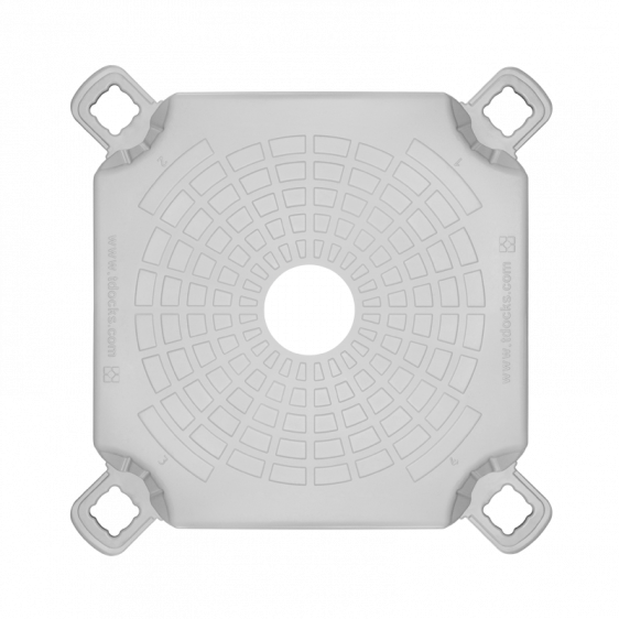 Floating pontoon post cube top view