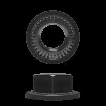 floating pontoon nut for lug connector
